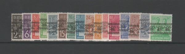 Bizone Mi-Nr. 36-51 I ** postfrisch - Bandaufdruck