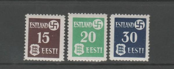 Besetzung II. Weltkrieg Estland Mi-Nr. 1-3 ** postfrisch