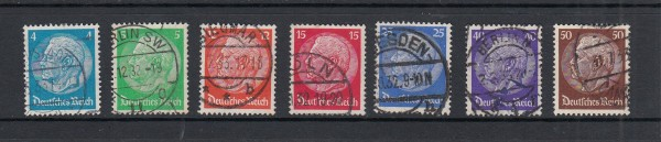 Deutsches Reich Mi-Nr. 467-473 gestempelt