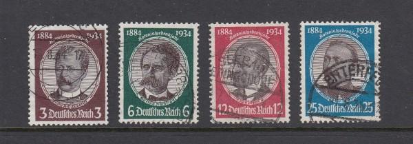Deutsches Reich Mi-Nr. 540-543 gestempelt - Kolonialforscher