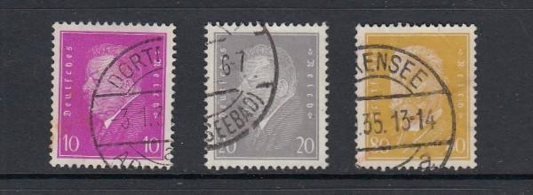 Deutsches Reich Mi-Nr. 435-437 gestempelt