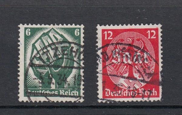 Deutsches Reich Mi-Nr. 544-545 gestempelt