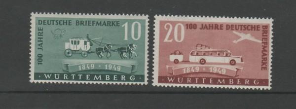 Französisch Zone Württemberg Mi-Nr. 49-50 ** postfrisch