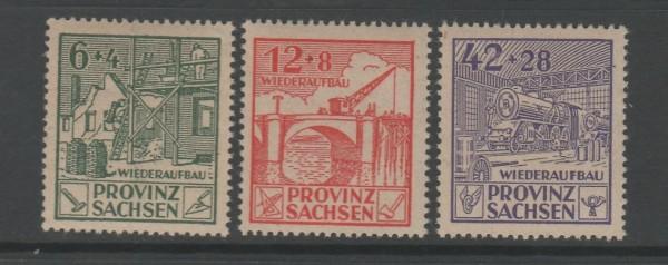 SBZ Provinz Sachsen Mi-Nr. 87-89 A ** postfrisch