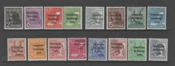 SBZ Mi-Nr. 182-197 ohne 195 ** postfrisch