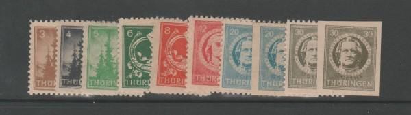 SBZ Thüringen Mi-Nr. 92-99 A + BY ** postfrisch