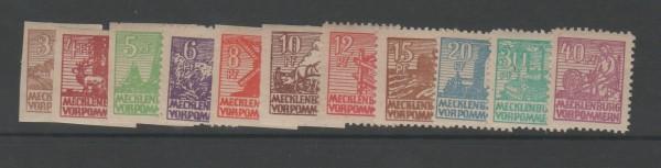 SBZ - Mecklenburg-Vorpommern Mi-Nr. 29-40 y ** postfrisch