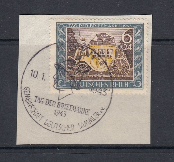 Deutsches Reich Mi-Nr. 828 gestempelt Ersttagsonderstempel auf Briefstück