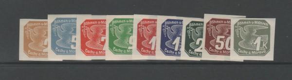 Böhmen und Mähren Mi-Nr. 42-50 ** postfrisch