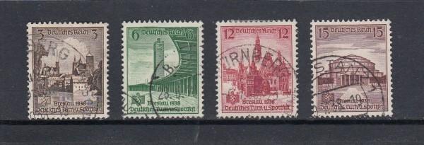 Deutsches Reich Mi-Nr. 665-668 gestempelt