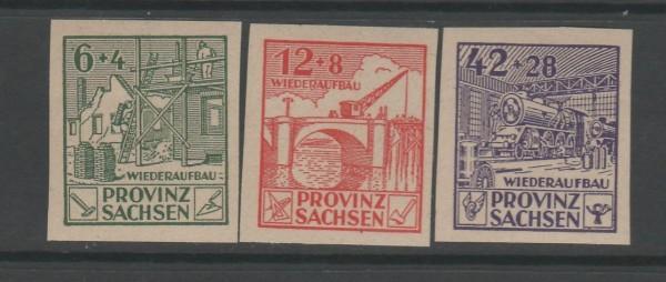 SBZ Provinz Sachsen Mi-Nr. 87-89 B ** postfrisch