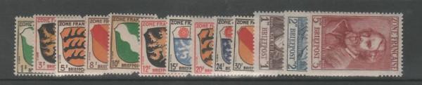 Französische Zone Allgemeine Ausgabe Mi-Nr. 1-13 ** postfrisch