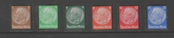 Deutsches Reich Mi-Nr. 548-553 ** postfrisch