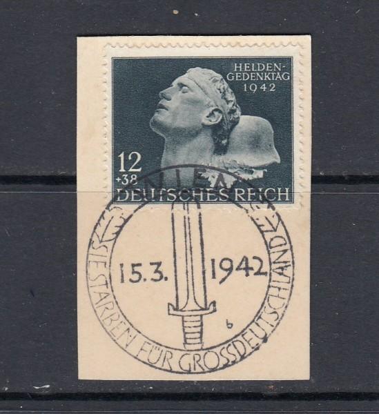 Deutsches Reich Mi-Nr. 812 gestempelt mit Sonderstempel auf Briefstück