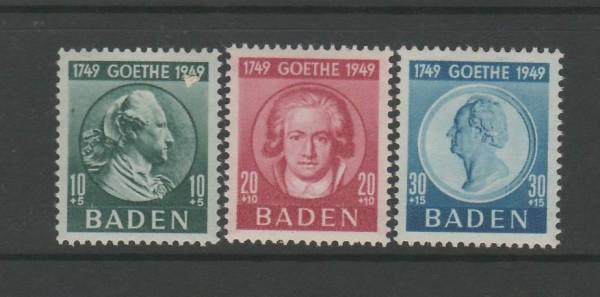 Französische Zone Baden Mi-Nr. 47-49 ** postfrisch