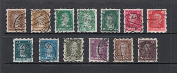 Deutsches Reich Mi-Nr. 385-397 gestempelt