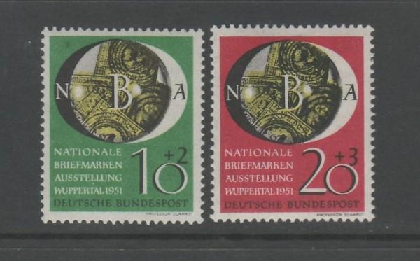 BRD Mi-Nr. 141-142 ** postfrisch