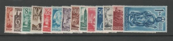Französische Zone Rheinland Pfalz Mi-Nr. 16-29 ** postfrisch