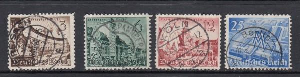 Deutsches Reich Mi-Nr. 739-742 zentrisch gestempelt