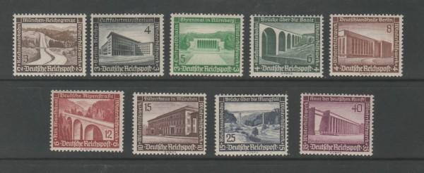 Deutsches Reich Mi-Nr. 634-642 ** postfrisch