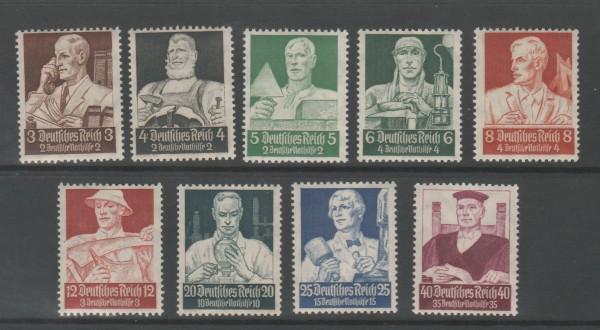 Deutsches Reich Mi-Nr. 556-564 ** postfrisch