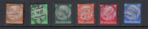 Deutsches Reich Mi-Nr., 548-553 gestempelt
