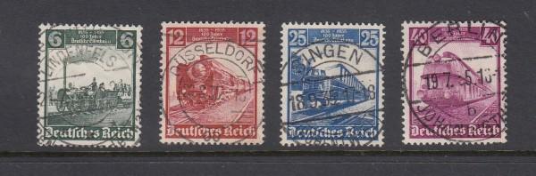 Deutsches Reich Mi-Nr. 580-583 zentrisch gestempelt