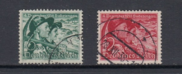 Deutsches Reich Mi-Nr. 684-685 gestempelt
