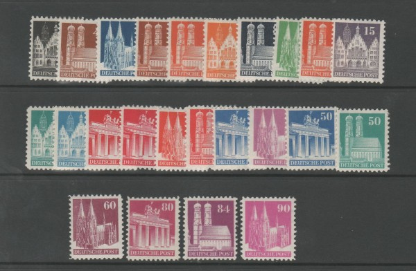 Bizone Mi-Nr. 73-96 wg ** postfrisch - Bauten