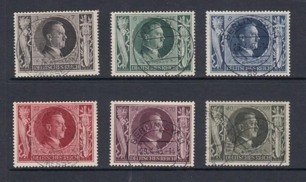 Deutsches Reich Mi-Nr. 844-849 gestempelt