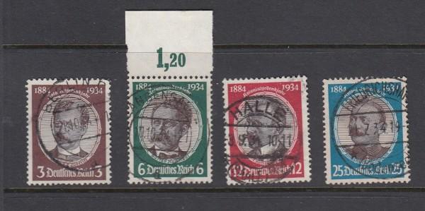 Deutsches Reich Mi-Nr. 540-543 zentrisch gestempelt