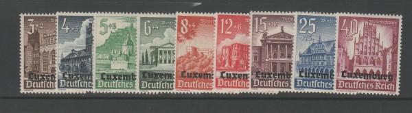 Besetzung II. Weltkrieg Luxemburg Mi-Nr. 33-41 ** postfrisch
