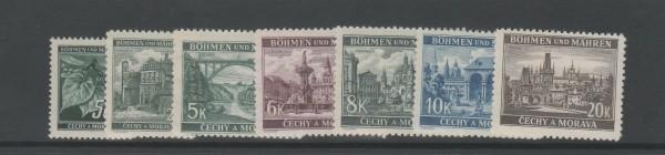 Böhmen und Mähren Mi-Nr. 55-61 ** postfrisch