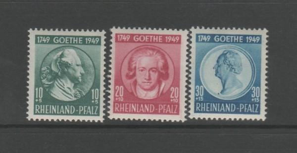 Französische Zone Rheinland Pfalz Mi-Nr. 46-48 ** postfrisch