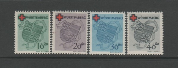 Französische Zone Württemberg Mi-Nr. 40-43 A ** postfrisch
