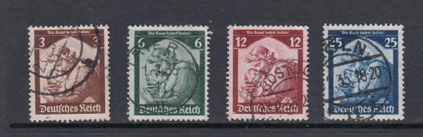 Deutsches Reich Mi-Nr. 565-568 gestempelt