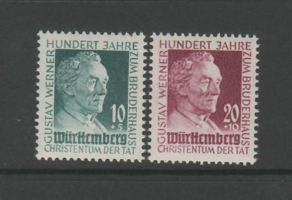 Französische Zone Württemberg Mi-Nr. 47-48 ** postfrisch