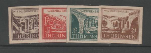 SBZ Thüringen Mi-Nr. 112-115 ** postfrisch