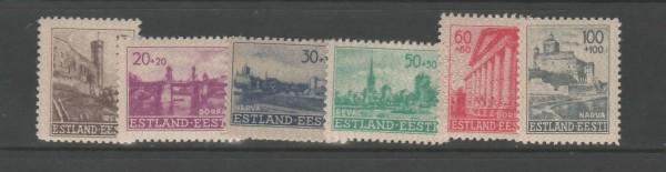 Besetzung II. Weltkrieg Estland Mi-Nr. 4-9 ** postfrisch